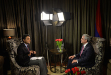 "President Serzh Sargsyan's interview to Indian TV channel ""Doordarshan"""