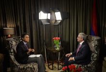 "President Serzh Sargsyan's interview to Indian TV channel ""Doordarshan"""