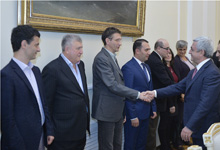 President receives Second All-Armenian Scientific Conference participants