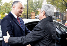 Farewell ceremony for Moldovan President Igor Dodon held at Presidential Palace