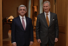 President meets with King Philippe of Belgium