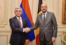 Նախագահը հանդիպում է ունեցել Բելգիայի վարչապետ Շառլ Միշելի հետ