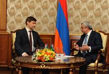 Նախագահն ընդունել է «Միասնական Ռուսաստան» կուսակցության ներկայացուցիչներին