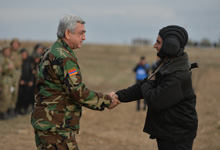 President inspects military exercises in Artsakh held within the framework of cooperation