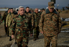 President introduced to possibilities of new Armenian military equipment