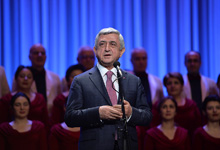 President attends concert on Armenia National Academic Choir 80th anniversary
