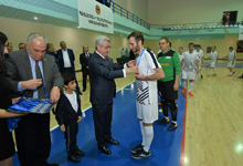 President watches final match of the RPA Futsal Cup