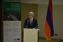 Речь Президента Сержа Саргсяна на конференции, посвящённой органам местного самоуправления и территориального управления