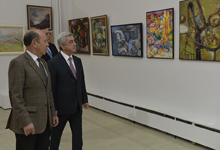 "President views exhibition dedicated to APU 85th anniversary, attends premiere of ""The Road to Our Dream"" film"