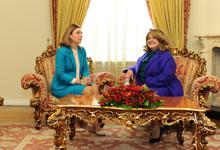 ՀՀ առաջին տիկին Ռիտա Սարգսյանը հյուրընկալել է Մոլդովայի առաջին տիկին Գալինա Դոդոնին