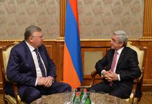 Նախագահն ընդունել է Եվրասիական զարգացման բանկի կառավարման խորհրդի նախագահ Անդրեյ Բելյանինովին