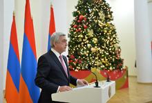Речь Президента Сержа Саргсяна на приёме для представителей СМИ по случаю праздников Нового Года и Святого Рождества