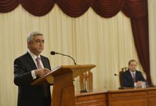 Речь Президента Сержа Саргсяна на торжественном заседании, посвящённом Дню работника органов Национальной безопасности