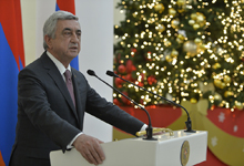 Remarks by President Serzh Sargsyan at New Year and Christmas holidays-dated gala reception for business community representatives