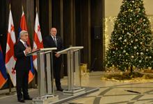 Նախագահ Սերժ Սարգսյանի հայտարարությունը ԶԼՄ-ների առջև՝ Վրաստանի նախագահ Գիորգի Մարգվելաշվիլիի հետ հանդիպումից հետո