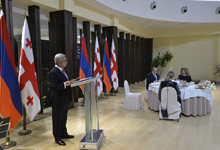 Statement by President Serzh Sargsyan at the official reception hosted by Georgia President Giorgi Margvelashvili