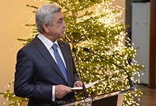 Նախագահը մասնակցել է Ամանորի և Սուրբ Ծննդյան տոների առթիվ արտաքին գործերի նախարարության ընդունելությանը