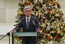 Նախագահը մասնակցել է Ամանորի և Սուրբ Ծննդյան տոների առթիվ Կենտրոնական բանկի ընդունելությանը