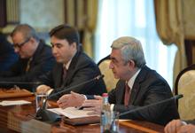 Речь Президента Сержа Саргсяна во время встречи с руководящим составом Национального Собрания