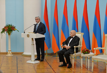 Речь Президента Сержа Саргсяна на церемонии вручения ордена Отечества и чествования Ованнеса Чекиджяна