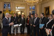 Նախագահ Սերժ Սարգսյանի ելույթը Ֆրանսիայի Ազգային ժողովի և Սենատի բարեկամության խմբերի անդամների հետ հանդիպմանը