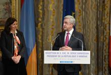 Выступление Президента Сержа Саргсяна на приёме в мэрии Парижа