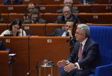 Президент Серж Саргсян на пленарном заседании ПАСЕ ответил на вопросы депутатов