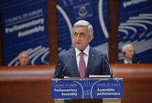 Речь Президента Сержа Саргсяна на январской сессии ПАСЕ