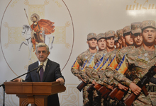 Президент принял участие мероприятии, посвящённом Дню поминовения Святого полководца Саргиса