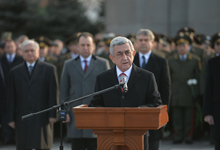 President Serzh Sargsyan's Congratulatory Message on Army Day