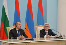 Совместная пресс-конференция Президента Сержа Саргсяна и Президента Болгарии Румена Радева