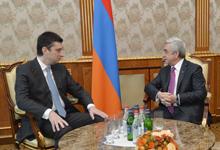 Նախագահը ընդունել է Վրաստանի փոխվարչապետ, ՆԳ նախարար Գիորգի Գախարիային