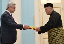 Նախագահին հավատարմագրերն է հանձնել Մալայզիայի նորանշանակ դեսպանը