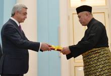 Newly appointed Malaysia Ambassador hands credentials