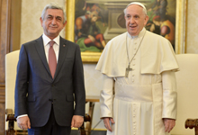 Օfficial visit of President Serzh Sargsyan to the Holy See, and working visit to the Republic of Italy