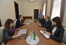 Նախագահն ընդունել է Հայաստանում ՄԱԿ-ի Զարգացման ծրագրի մշտական ներկայացուցչի տեղակալին