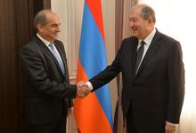 Նախագահ Սարգսյանն ընդունել է Կիպրոսի Ներկայացուցիչների պալատի նախագահի գլխավորած պատվիրակությանը