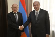 Նախագահ Սարգսյանն ընդունել է Ֆրանսիայի Եվրոպայի եւ արտաքին գործերի նախարարին