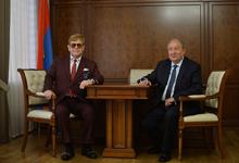 President Sarkissian hosted the world-famous British performer Elton John