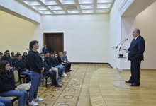 President Sarkissian received students and teachers of the Rose and Alex Pilibos Armenian School