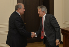 President Armen Sarkissian stressed the importance of a continuous cooperation with the EBRD