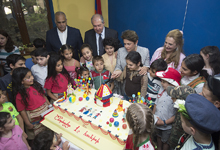 President and Mrs. Nune Sarkissian visited Orran benevolent organization