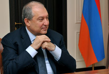 President Armen Sarkissian gave an interview to Ekho Moskvy