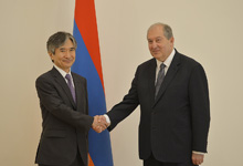 Newly appointed Ambassador of Japan presented his credentials to the President of Armenia