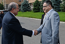 President familiarized with the activities and programs of the Armenian-Russian University