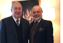 President Armen Sarkissian in Paris met with the heads of major French companies