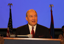 President Sarkissian participated at the reception at the US Senate