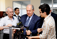 President Armen Sarkissian visited the National Polytechnic University of Armenia
