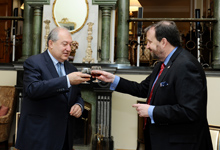 President Armen Sarkissian congratulated Ambassador Mills on the occasion of US Independence Day