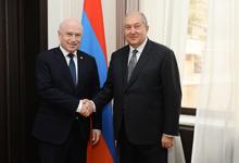 Նախագահ Սարգսյանն ընդունել է ԱՊՀ  գործադիր կոմիտեի  նախագահ, գործադիր քարտուղար Սերգեյ Լեբեդեւին